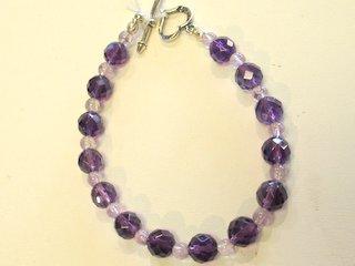 Amethyst Bead Bracelet $99