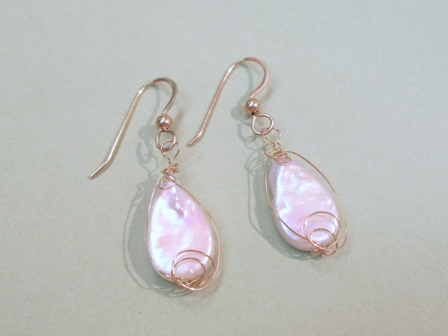 14 Karat Cultured Freshwater Pearl Teardrop Earrings $189