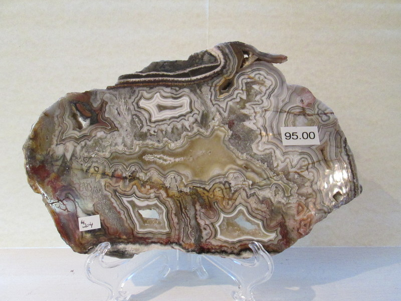Mexican Lace Agate Slab  $95