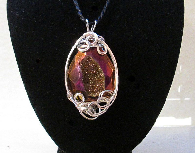 Burgandy Colored Agate Drusy Sterling Silver Pendant $139