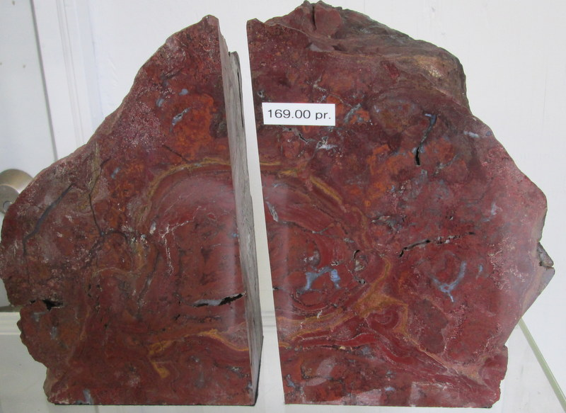 Red Jasper Bookends $169.00