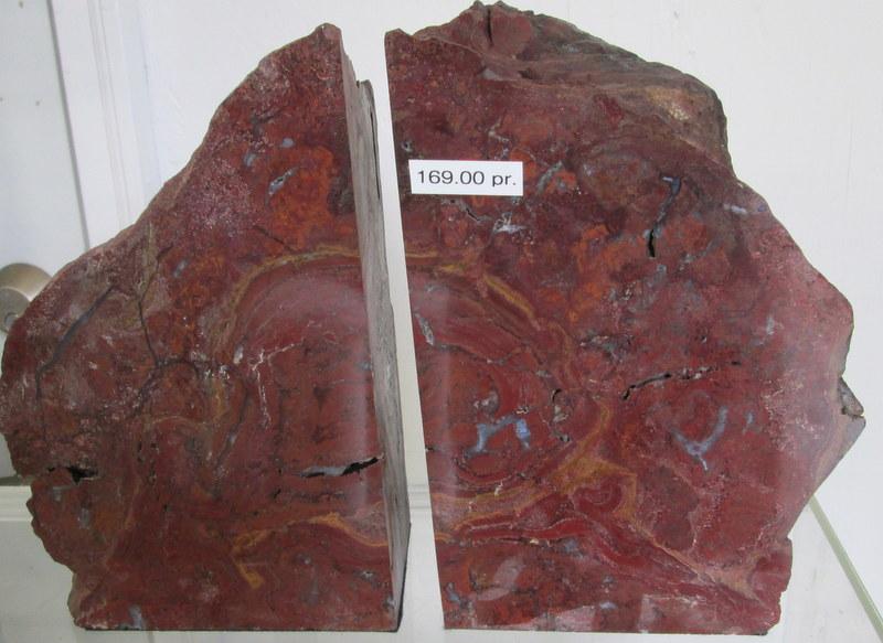 Red Jasper Bookends $169.00