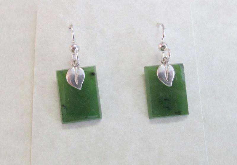 Nephrite Jade Earrings $39.00